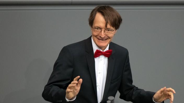 Karl Lauterbach (SPD) spricht im Deutschen Bundestag