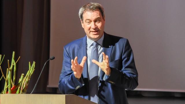 Bundesregierung Markus Söder beim CSU-Bezirksparteitag