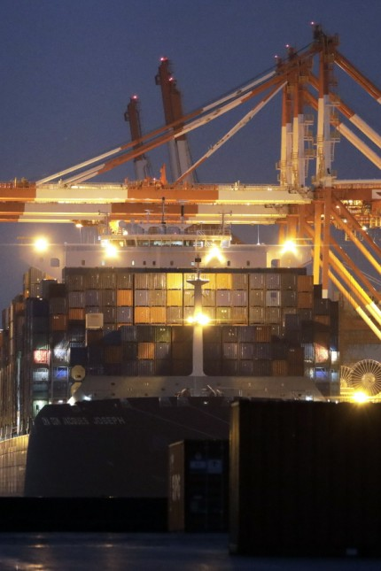 Shipping Operations at Container Terminals as Japan-South Korea Spat Continues
