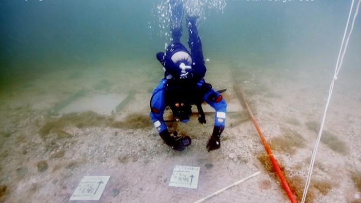 Unterwasserarchäologen Starnberger See