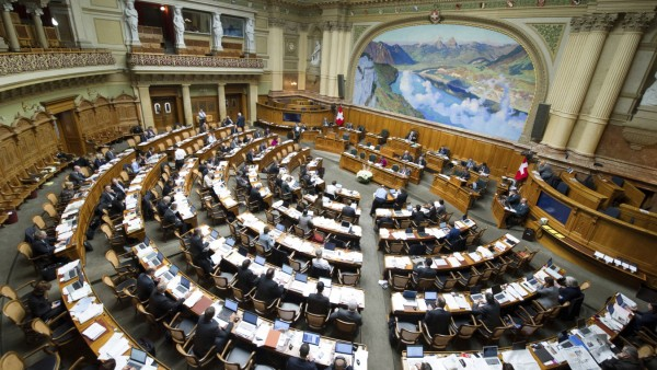 Inland Wintersession 2013 Bern 26 11 2013 Wintersession Uebersicht Nationalratssaal waehrend ei