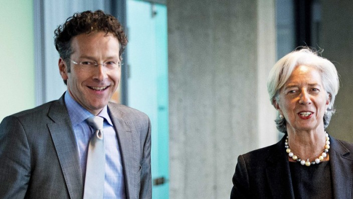 Christine Lagarde, director of the International Monetary Fund (I