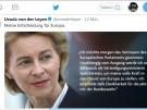 Von der Leyen kündigt Rücktritt als Verteidigungsministerin an (Vorschaubild)
