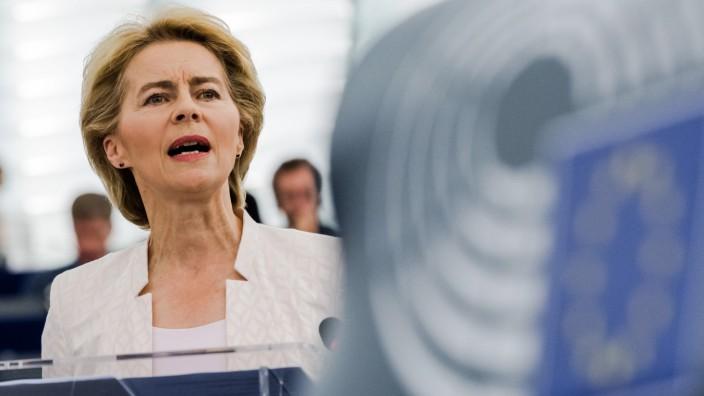 Ursula Von Der Leyen Ahead of European Commission Presidency Vote