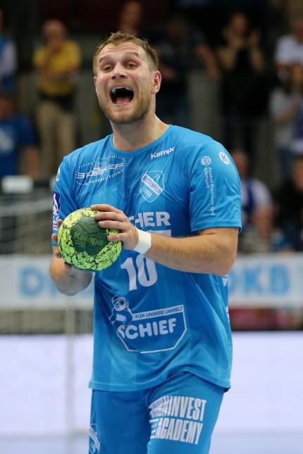 BAU 18 10 2018 Stuttgart Handball TVB 1898 Stuttgart vs TSV Hannover Burgdorf Michael Kraus TV