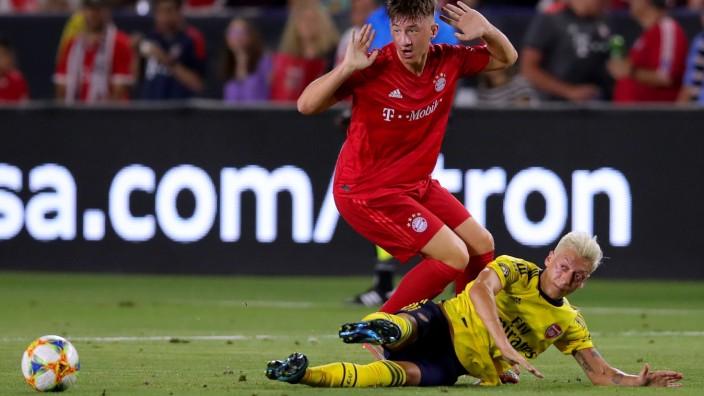 FC Bayern - Angelo Stiller gegen Arsenal London beim Champions Cup 2019