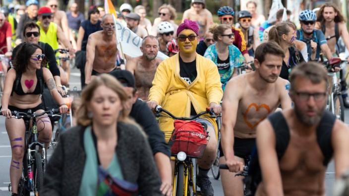Protestaktion für sicheres Fahrradfahren