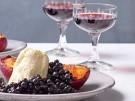 Rezept Ricotta Pfirsich Heidelbeeren Dessert Nachspeise 7