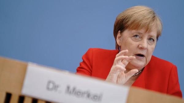 Pressekonferenz mit Bundeskanzerlin Merkel