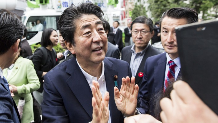 Japanese Prime Minister Abe Campaigns Ahead Of The Upper House Election