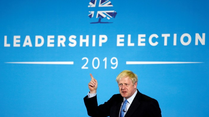 FILE PHOTO: Boris Johnson, a leadership candidate for Britain's Conservative Party, attends a hustings event in Colchester