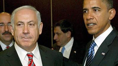Barack Obama Obama und Netanjahu