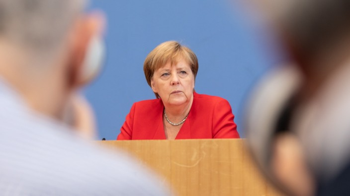 Merkel Holds Annual Press Conference