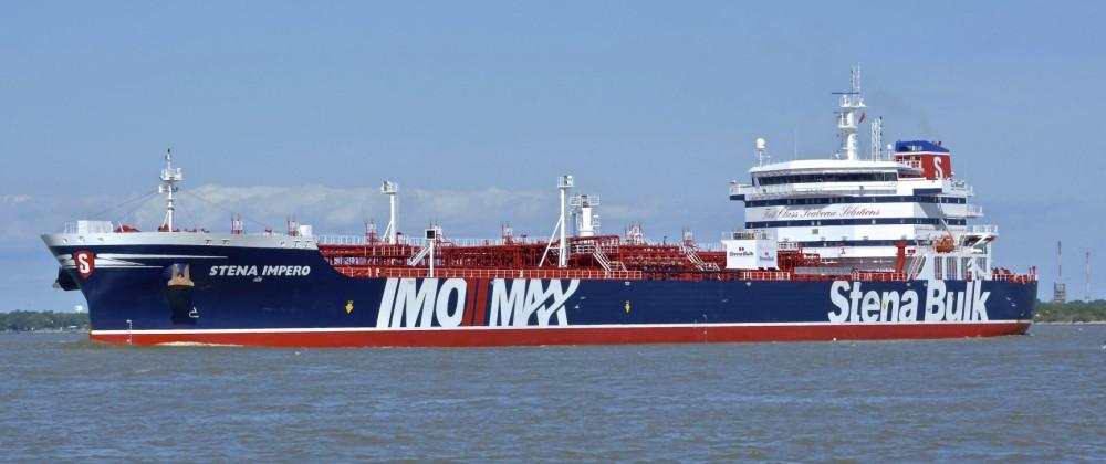 Der britische Tanker Stena Impero
