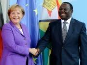 merkel, Morgan Tsvangirai, Getty