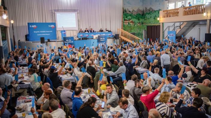 Bayern AfD: Lauter Streit beim Sonderparteitag Bayern