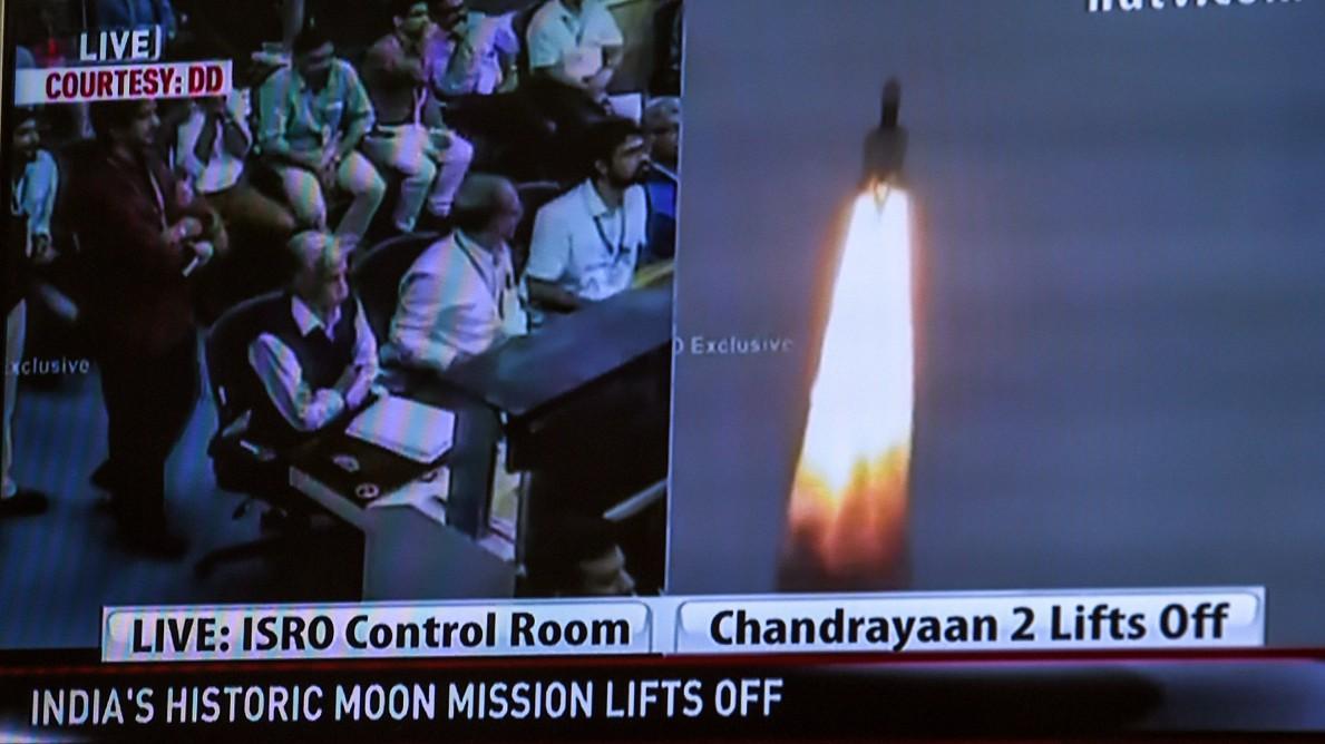 Indien unterwegs zum Mond