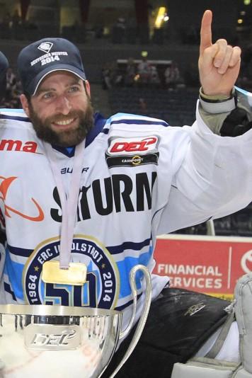 Goalkeeper Goalie Timo Pielmeier ERC Ingolstadt 51 left and goalkeeper Goalie Markus Janka ERC Ing; ice Hockey