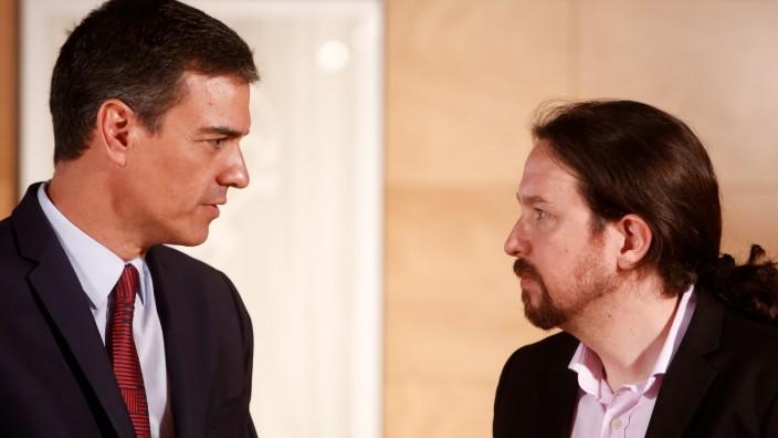 Spaniens Ministerpräsident Sanchez trifft Iglesias