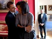 Obama's Homestory, Der Kuschel-Präsident