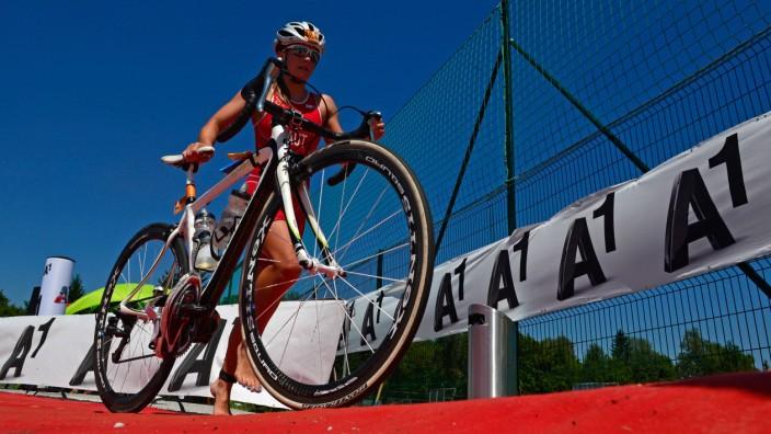 TRIATHLON Trumer Triathlon 2014 OBERTRUM AM SEE AUSTRIA 19 JUL 14 TRIATHLON CYCLING Trumer Tr