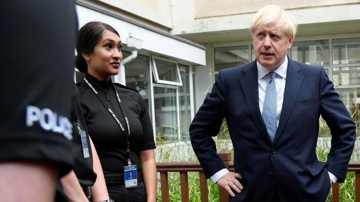 Britain's Prime Minister Boris Johnson visits Birmingham