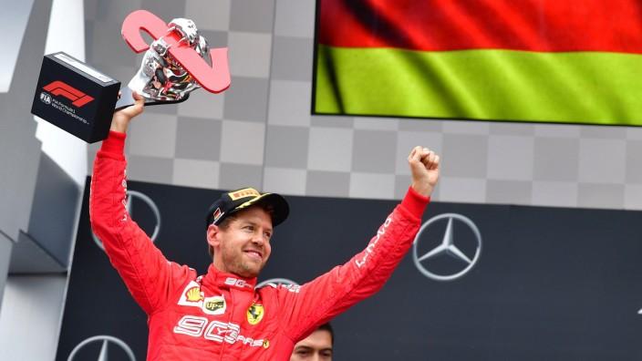 Sebastian Vettel nach dem Großen Preis von Hockenheim 2019
