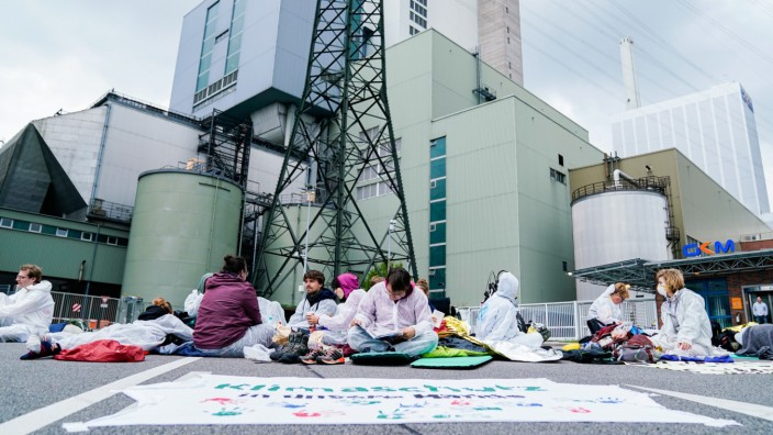 Blockade von Steinkohlekraftwerk