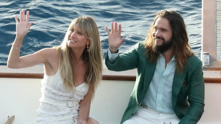 quality products official shop great prices Heidi Klum Tom Kaulitz: Hochzeit auf Schiff vor Capri ...