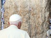 Benedikt XVI. an der Klagemauer, dpa