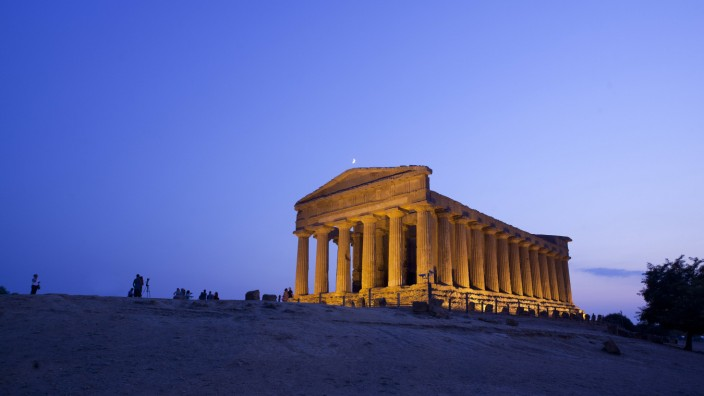 Valley of the Temples Agrigento UNESCO World Heritage Site Sicily Italy Europe PUBLICATIONxINxG