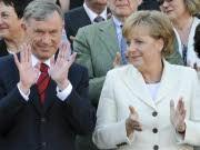 Bundespräsident Köhler, Bundeskanzlerin Merkel, Reuters