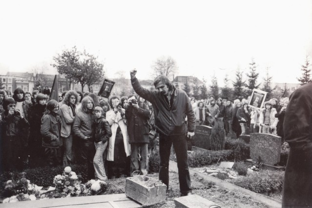 Beerdigung Holger Meins ,Rudi Dutschke; Stern Fotoarchiv Staatsbibliothek