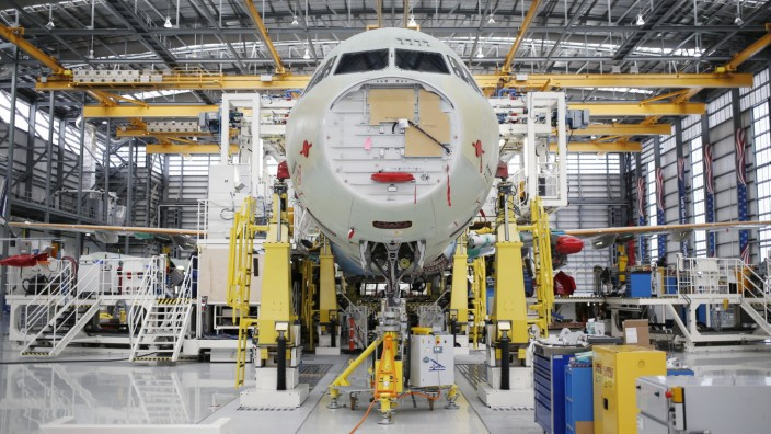 Inside The Airbus SE Assembly Facility Ahead Of Durable Goods Figures