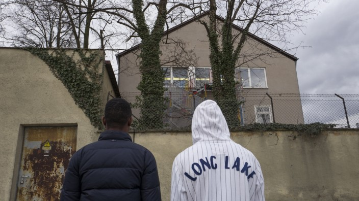 Flüchtlingsunterkunft in der ehemaligen Funkkaserne in München, 2019