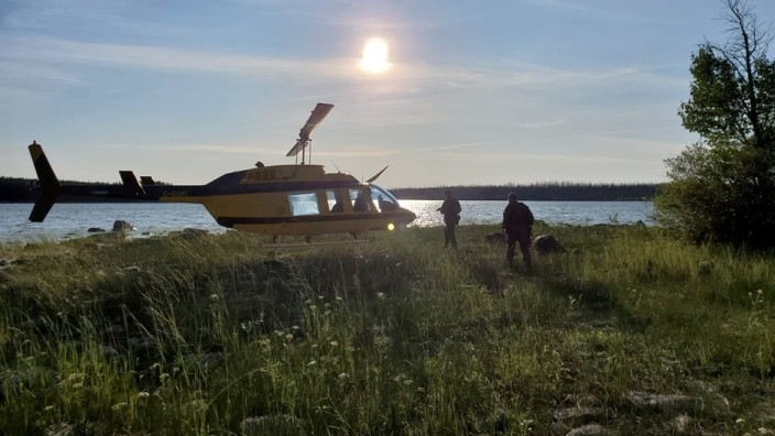 Kanada Hubschrauber Suche nach Mordverdächtigen