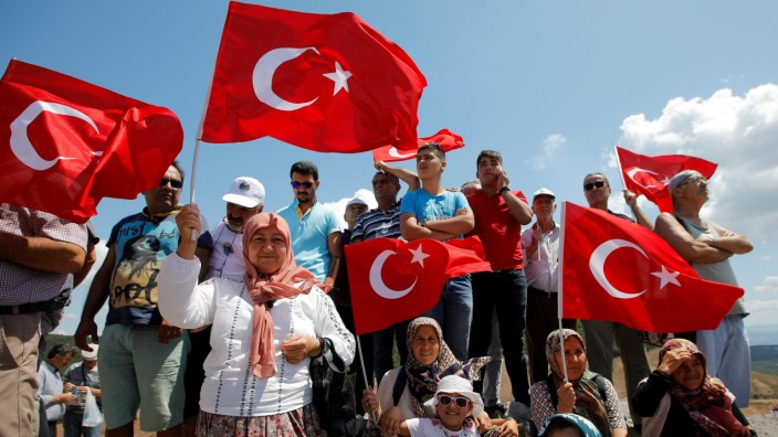 FILE PHOTO: Environmental activists protest against gold mine project near Kirazli in Canakkale province