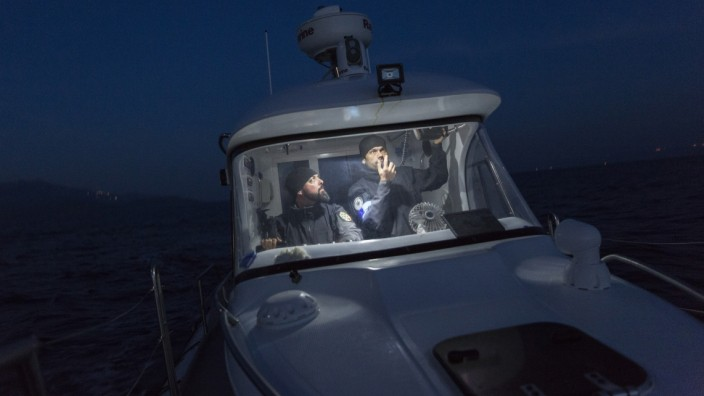 **BESTPIX**  On Duty With A Frontex Crew As They Patrol The Aegean Sea