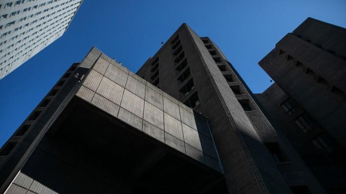 An exterior view of the Metropolitan Correctional Center jail where financier Jeffrey Epstein, who was found dead in the Manhattan borough of New York City, New York