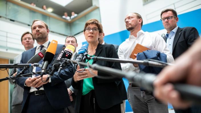 Kramp-Karrenbauer trifft sächsische CDU-Vorsitzende