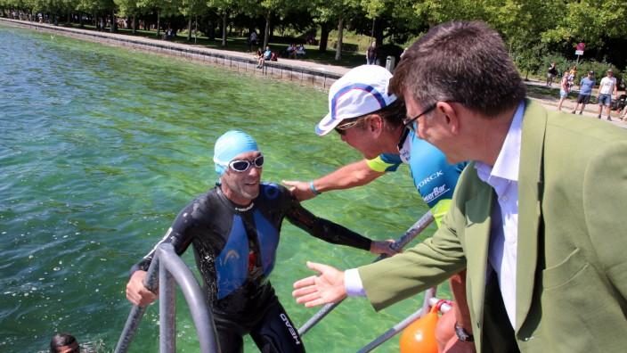 Fünf-Seen-Schwimmer Hartig wieder an Land; Marathonschwimmer Steffen Hartig