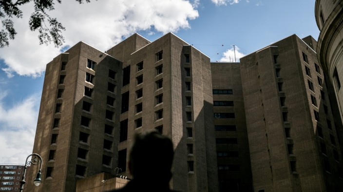 FILE PHOTO: An exterior view of the Metropolitan Correctional Center jail where financier Jeffrey Epstein, who was found dead in the Manhattan borough of New York City, New York