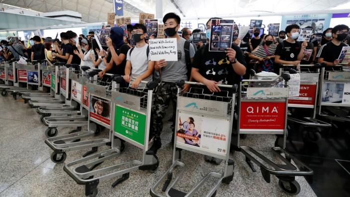 Flughafen Hongkong Proteste