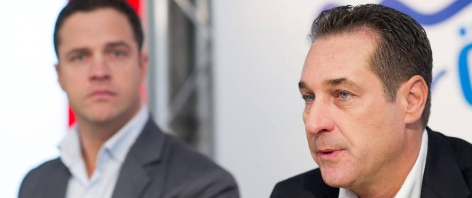12 03 2015 Freiheitlicher Parlamentsklub Wien AUT FPOe Pressekonferenz zum Thema Sicherheitswa