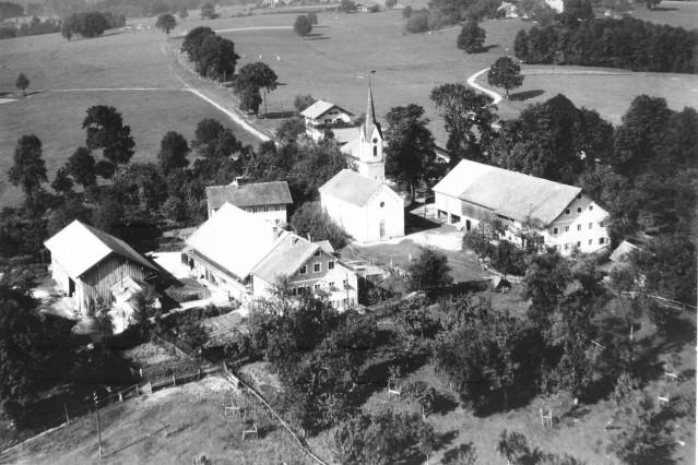 Luftaufnahme Nantesbuch um 1960