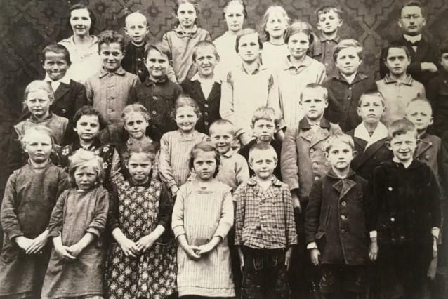 "Klassenfoto ""Nantesbucher Schule"" um 1930"