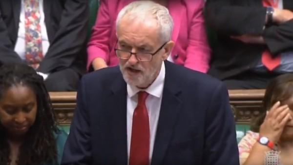 Jeremy Corbyn im Unterhaus