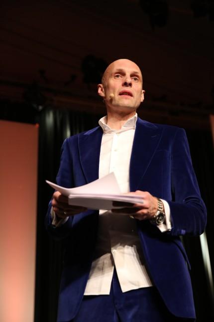 Michael Lentz bei seinem Auftritt am 11 03 15 im Rahmen der lit Cologne in Köln Lit Cologne 2015 M