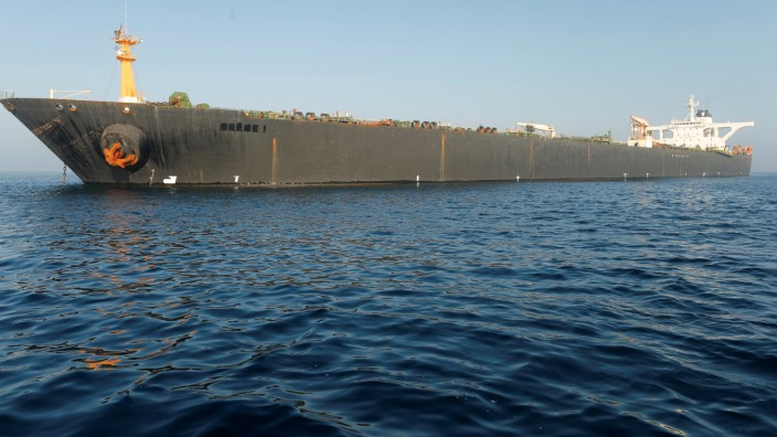 Tanker Grace 1 vor Gibraltar