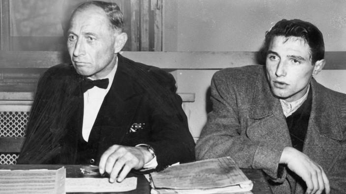 Johann Reichhart mit Sohn Hans, 1948